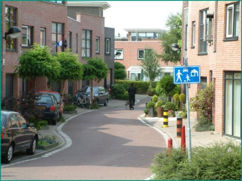 Could playable streetscapes like this 'woonerf' in Holland help to improve English children's health?
