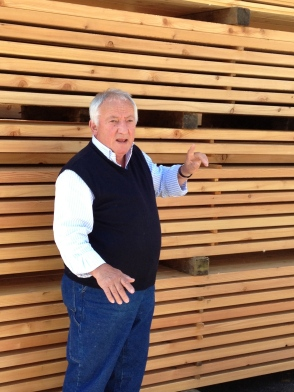 Company founder Julian Richter...and his beloved larch